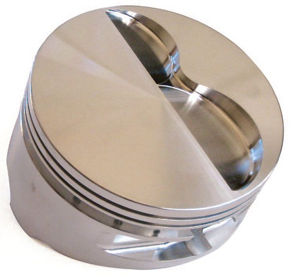 Flat-top pistons have become much more prevalent because they mini¬mize the loss of combustion heat to the surface area. They also promote superior flame travel when paired with shallow combustion chambers.