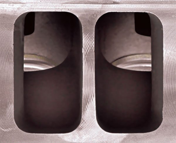 This is the as-cast Pro 1 intake ports with no modifications.