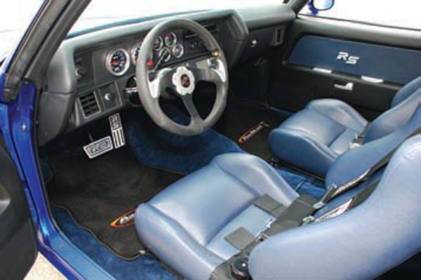 This fat, leather-wrapped steering wheel and supportive seats don't make your muscle car handle better, but they can make a huge difference in how well you handle your muscle car!