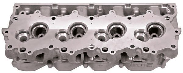 Chevrolet RO7 cylinder heads start with these raw castings and undergo extensive precision machine work to bring them to the level of Cup compe¬tition. In addition to detailed porting measures, the valvetrain is set up with exhausting precision to ensure maxi¬mum durability in the extended high- RPM environment of Sprint Cup racing. (Courtesy General Motors)