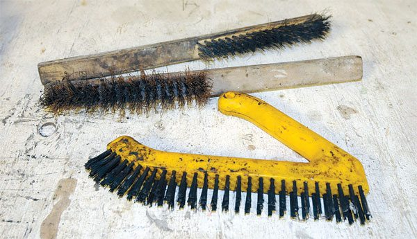 For cleaning parts, you frequently have to fall back on the old wire brush to get the last of the gunk and grunge off the parts. Have several on hand so you can use some with your parts washer and keep some dry for lighter work.