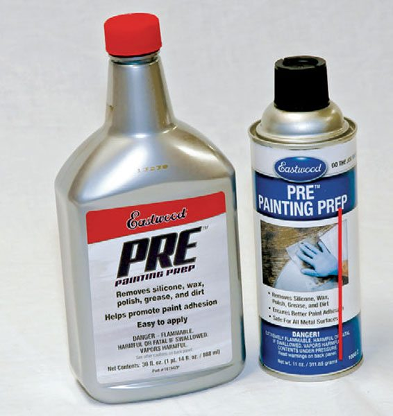 Eastwood makes a wipe-down cleaner called PRE Painting Prep. This is a great final wipe-down product to be sure that no oils (even skin oil) or dust is left on your parts before you coat them.