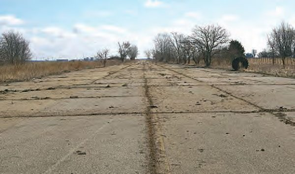 Abandoned for thirty years, the old Motion Raceway doesn't have much to offer besides a massive strip of cracked pavement. Usually, when tracks close down, many of the components are reused at other tracks or sold for scrap, leaving a lonely strip of pavement as the only reminder of a great track. (Photo Courtesy Steve Jackson)