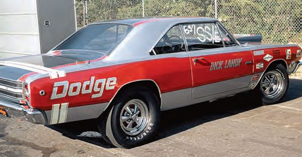 "With the Super Stock class growing in popularity, many racers received great support from the manufacturers, in the form of factory drag cars. The ""race on Sunday, sell on Monday"" attitude was in full force during the 1960s when racers such as ""Dandy"" Dick Landy campaigned factory drag cars. (Photo Courtesy Bob Snyder)"