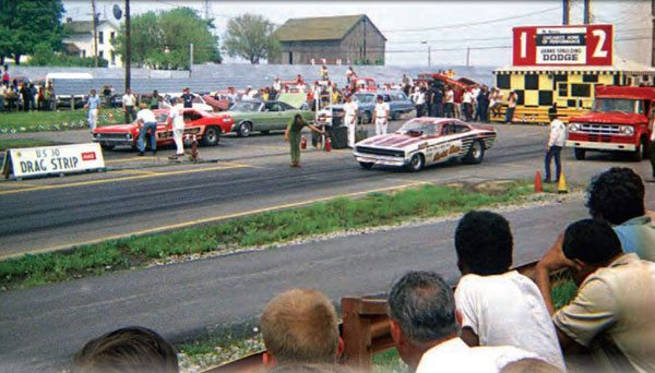 U.S. 30 Drag Strip was home to lots of major Funny Car races, including the Coca-Cola Cavalcade of Stars events, created by track operator Ben Christ in 1969. Spectators also saw plenty of Funny Car action at many match races, as well as the AHRA national events held at U.S. 30. (Photo Courtesy Larry Rzepczynski)