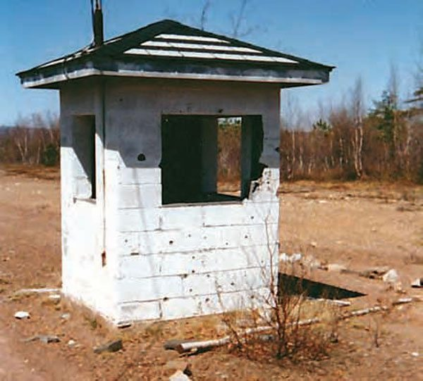 The ticket booth was also in sad shape in 1989. Many of the artifacts from the track still remain, making it a great place for a reunion event to relive the good ol' days of PDL. Folks like Jack Thomas and Charlie Hulsizer have worked wonders on what's left of the historic track. (Photo Courtesy Stan Zigmont)