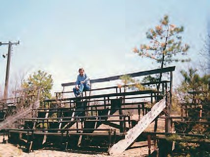 In 1989, the wooden bleachers were badly worn. Considering that this picture was taken more than twenty years ago, the track is actually in better shape in its current condition, thanks to devoted fans. (Photo Courtesy Stan Zigmont)