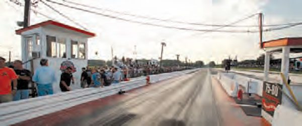 "When 75-80 Dragway reopened in 2009, it required countless hours of labor to refurbish the racing surface and give all of the buildings a thorough restoration. The track continues to prosper, holding its popular ""Run What Ya Brung"" heads-up events on a regular basis, along with a regular IHRA racing program. (Photo Courtesy Matt Ebaugh)"