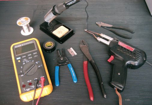 Here are the tools needed, at minimum, to tackle your wiring projects. You probably already own most of these.