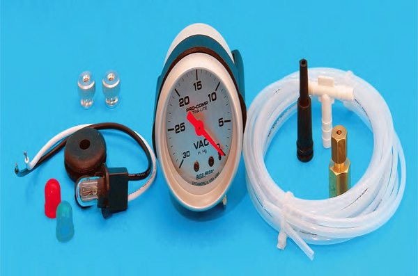 No matter how high-tech you get with the ignition system and any data acquisition system, remember that one of the best tune-up devices is a simple vacuum gauge such as this Autometer unit.