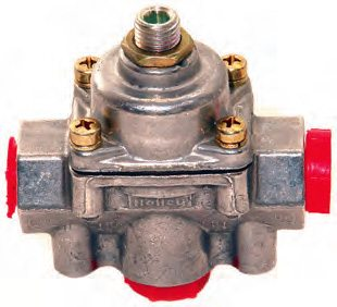 This is Holley's bypass pressure regulator (PN 12-803BP). A unit like this is about twice the cost of a nonbypass unit (PN 12-803) and requires a return line. However, the extra cost does buy you better fuel pressure stability.