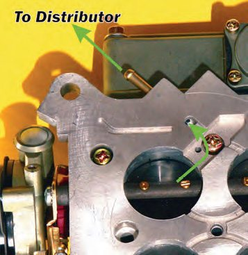 Ported vacuum is sourced from above the butterfly while manifold vacuum (shown) is sourced from below the butterfly