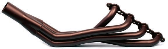 15.Ceramic high-heat coatings benefit any exhaust components, including cast-iron exhaust manifolds, tubular headers, and exhaust pipe. Headers are available already coated from most leading header manufacturers, such as these long-tube headers from Hooker. In contrast to using high-heat spray-on paint, ceramic coatings are much more durable in terms of maintaining appearance, as well as increasing thermal efficiency. Even stainless steel headers (which are more thermally efficient than mild steel) can benefit by reduced thermal heat management.