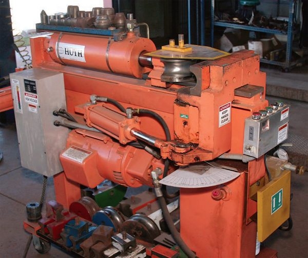 Crush-bending machines are the most common at service garages and local pipe-bender shops. A manual or semi-automatic machine requires the operator to position the pipe for each bend.