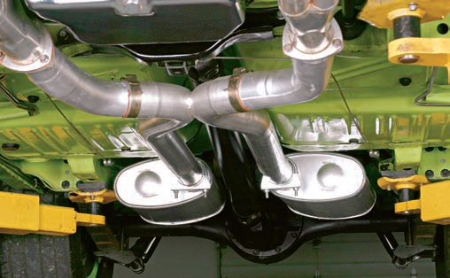 Mufflers with offset inlets are often needed for muffler locations to accommodate underbody or driveshaft clearances.
