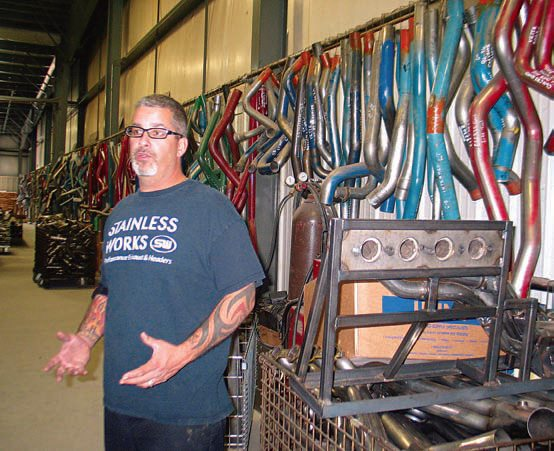 George Rumore of Stainless Works noted that every header design for each specific application involves an initial pattern that has been developed for specific engine and vehicle fitments. Each prototype pattern is stored for reference.