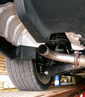 The complete performance exhaust pipe guide rubber hanger isolators and a short flex coupler are being used on this 2008 pontiac g8 malvernweather