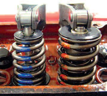 These two springs were run on Comp Cams' Spintron. The regular spring delivered higher seat- and over-the-nose poundage by about 12 percent, yet the beehive ran to more than 1,000 rpm higher before losing control.