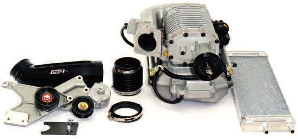 This Magnuson kit for a 2000-model-year 4.8-liter GMC Sierra truck was installed and produced very strong results. Since then, Magnuson has made further upgrades in blower efficiency.