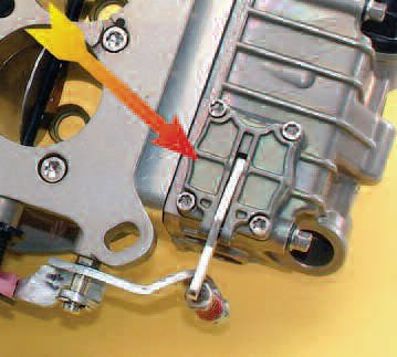 Like this Holley-style Braswell carb, most carbs use a diaphragm accelerator pump design rather than a piston.