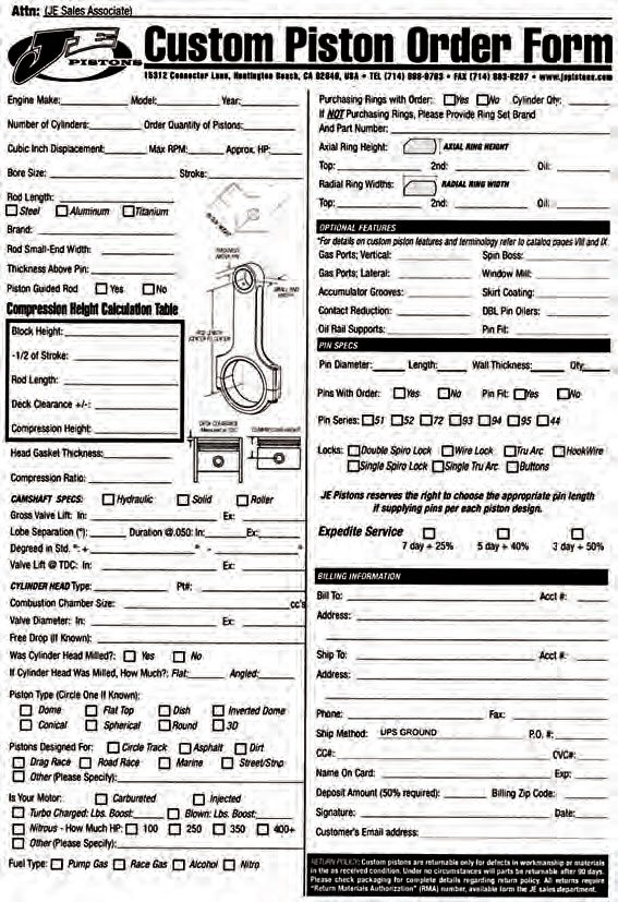 How to blueprint engines pistons guide muscle car diy blank custom piston data sheet photo courtesy je pistons malvernweather