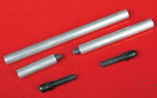 Checking pushrods are available in a variety of designs and lengths. This checker has a three-piece shaft and two threadadjustable tips.