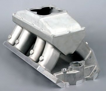 The plenum top attaches with a series of bolts and is sealed with a one-piece gasket.