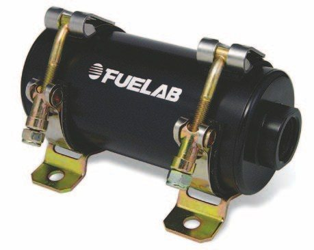 Fig. 2.13. The Prodigy series of fuel pumps from Fuelab utilize built-in PWM technology. When used with the matching Fuelab PWM regulator, pump speed is managed based on actual fuel requirements of the engine. The two are interconnected by a single wire. Prodigy fuel pumps can also be interfaced to the PWM output of a compatible ECU to manage pump speed. (Photo Courtesy Fuelab)