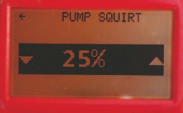 Fig. 3.3. The MSD Atomic EFI system has a Pump Squirt feature similar in function to the accelerator pump of a carburetor. This and the Power Valve Enrich feature, similar in function to the power valve of a carburetor, allow you to quickly and easily dial the acceleration enrichment of the system via the handheld controller while driving the vehicle.