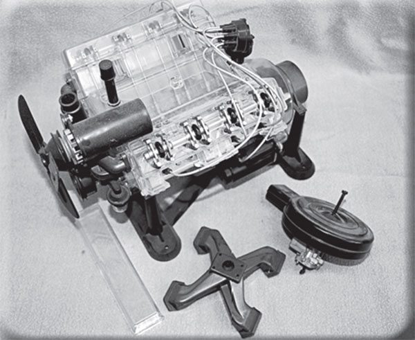 Maybe you built one as a kid, the Renwall (now Revell) Visible V-8 model kit is not based on the Chevy small-block.