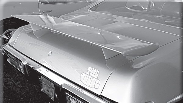 Of the three trunk spoiler designs offered on the GTO, which one was the rarest?