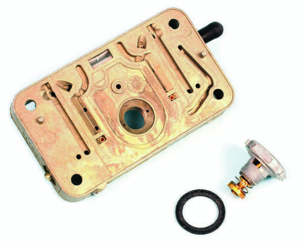 Whenever replacing a power valve, it's a good idea to install a new gasket. A power valve should be tightened to the metering block at 40 to 50 in-lbs. Avoid overtightening.