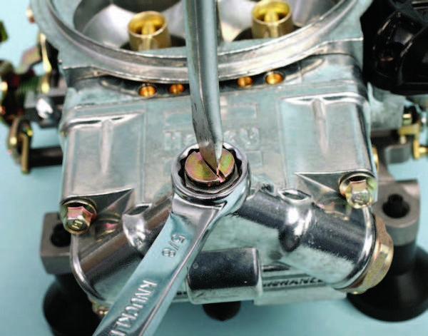 Commonly, a 5/8-inch wrench and a flat-blade screwdriver are used to adjust floats. These are the tools that everyone has been using for decades, and there's nothing wrong with this approach. A dedicated adjuster tool is simply more efficient, especially for racers who may need to perform service more often or in a hurry.