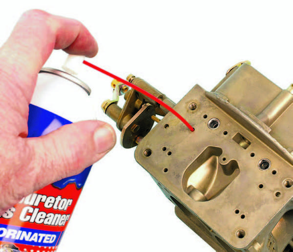 Be sure to squirt carb cleaner into each and every passage and orifice, and then blow everything clear with compressed air.